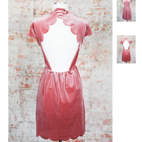 Mauve Crushed Velvet Dress NWT
